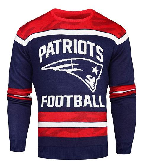 Patriots Nfl Ugly Sweater Suéter Original Brilla Oscuridad