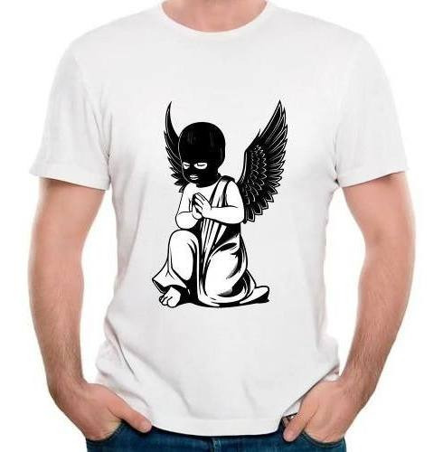 Camisetas Anjos Negro Lost Angel Falso Camisas Qualidade Top