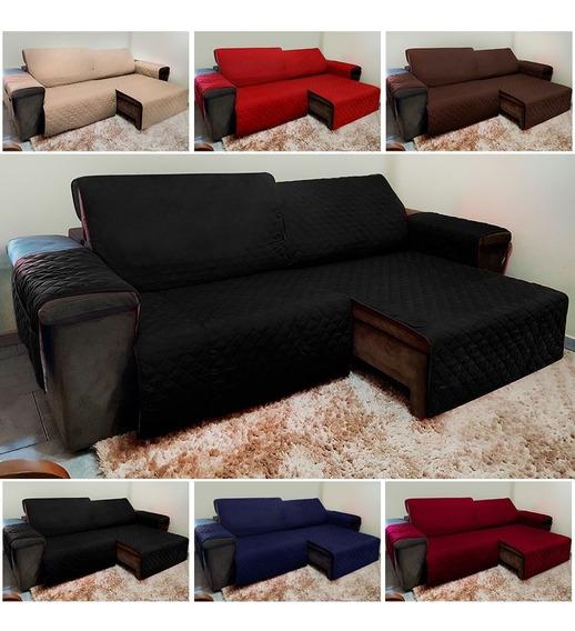 Protetor De Sofá Reclinável E Retrátil Com Assento Até 2,40m