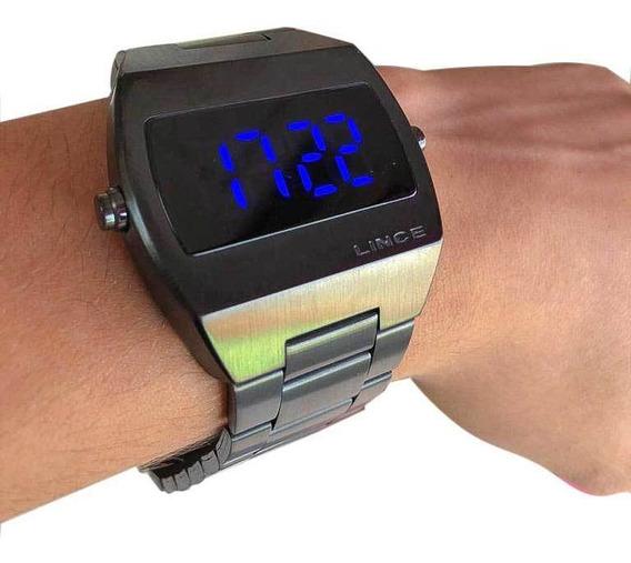 Relógio Led Feminino Clássico Aço Lince - Mdn4621l