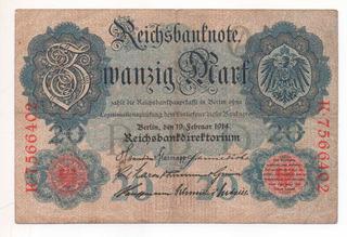 Billete Antiguo De Alemania 1914 Germany