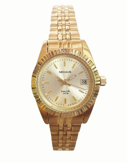 Relógio Seculus 25538lpsvda1 Dourado Riviera Pequeno Longlif