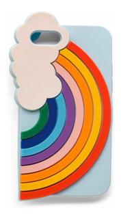 Funda Protector Decorativo De Silicona Arcoíris iPhone 7