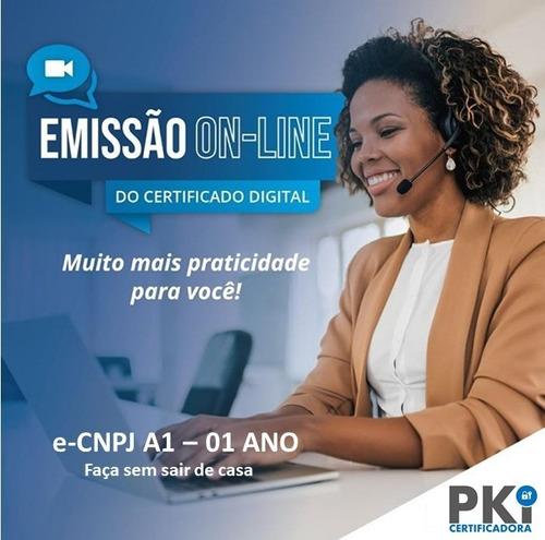 Certificado Digital E-cnpj A1 (1 Ano) - Via Videoconferência