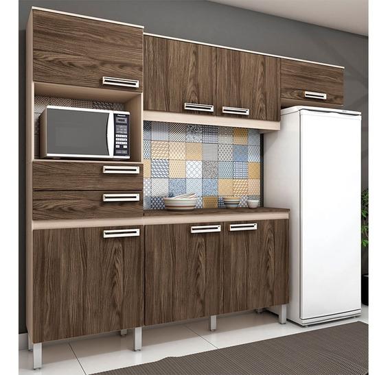 Cozinha Compacta 5 Peças Com Balcão E Tampo 107 Briz Gdwt