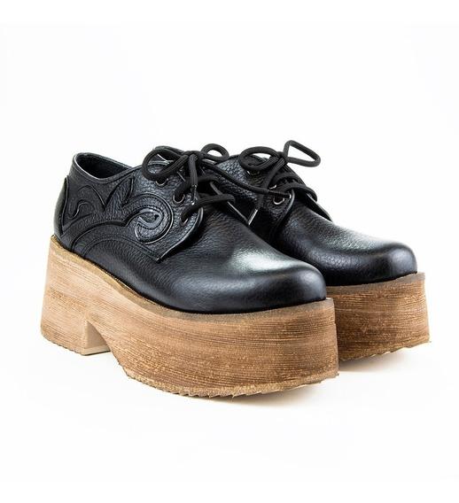 Zapato Montella Acordonado Cuero Y Goma Eva Keops