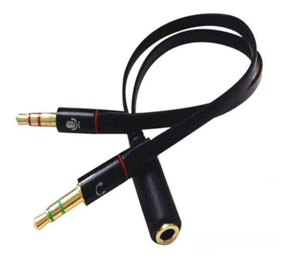 Cabo Adaptador De Audio P2 Duplo Headset P3 Fêmea X P2 Macho