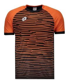 Camisa Lotto Vibrant 2.0 Laranja E Preta