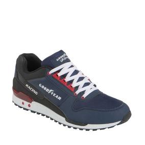 Tenis Casual Goodyear Racing Sneakers Azul Marino 21749