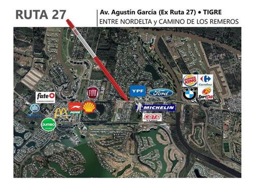 Lote | Alquiler | Ruta 27  | Av. Agustín García| Entre Nordelta Y C. Remeros | Tigre