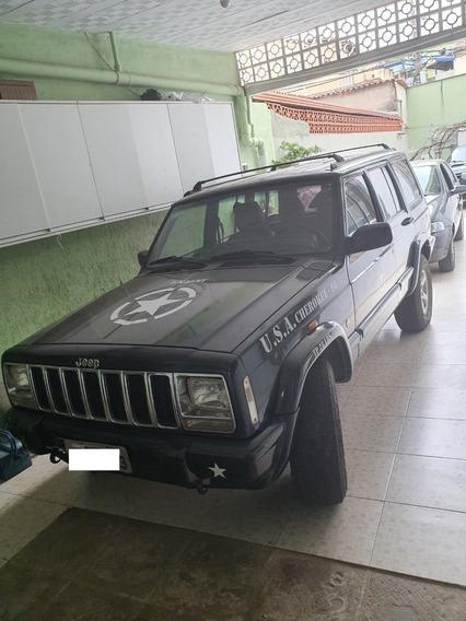 Jeep Cherokee Sport 1998 Pronto Para Trilha Plotado Exercito
