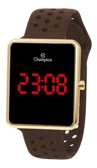 Relógio Champion Feminino Digital Dourado Chocolate Ch40081u