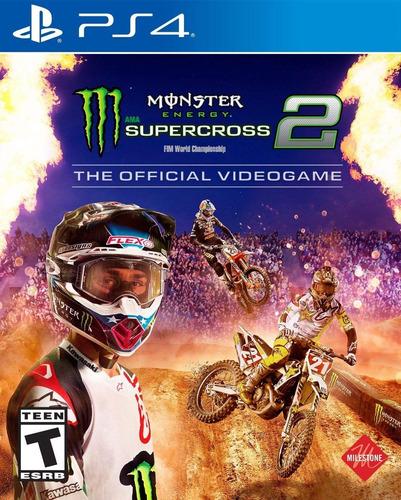 Moto Monster Energy Supercross 2- Ps4 Fisico Nuevo & Sellado