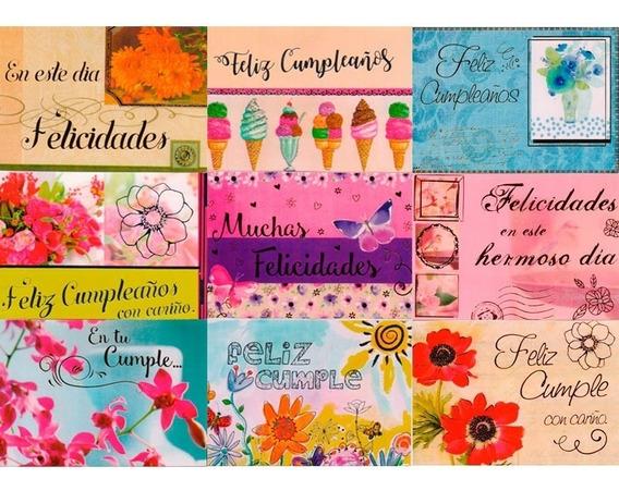 Maxicard X45 Unidades Tarjetas Feliz Cumpleaños Para Mujer