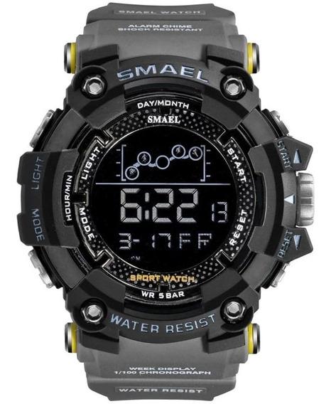 Relógio Smael 1802 Digital Caixa Grande Tático Prova D
