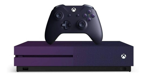 Microsoft Xbox One S 1TB Fortnite  color violeta