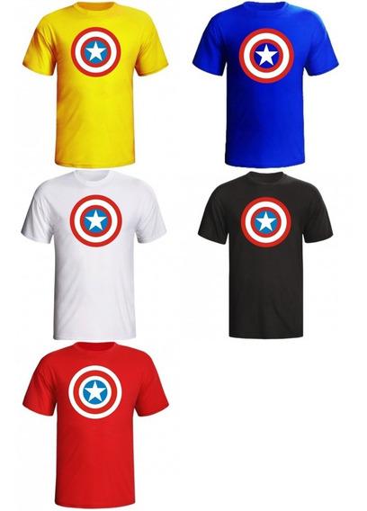 Camiseta Capitão América Escudo Super Heroi