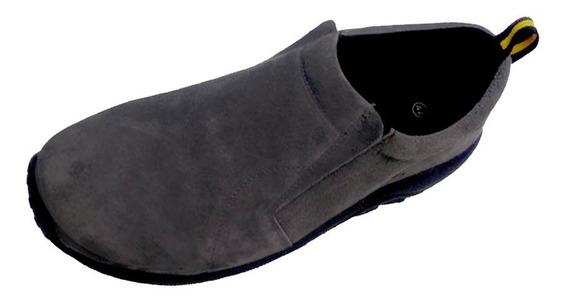 Cómodos Zapatos De Cuero, Color Gris, Estilo Casual