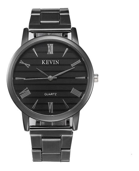 Reloj Metálico Original Negro Elegante Mayoreo Envio Gratis Nuevo