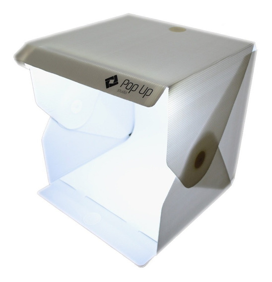 Studio Fotográfico Box Para Photo Já Tem Iluminação Led 35cm