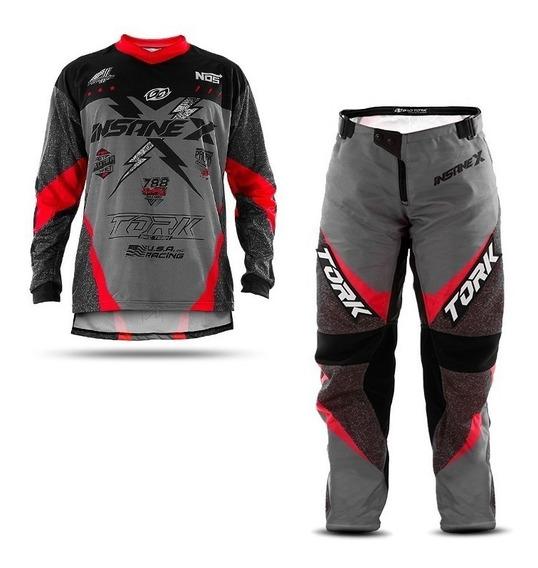 Conjunto Insane Pro Tork Trilha Cross Enduro Motocross