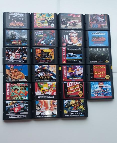 Lote De Cartuchos/jogos Paralelos De Mega Drive - Retrô