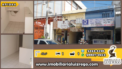 Ap1062 - Aluga Apartamento No Centro, 1 Quarto, 35m2, R$ 400