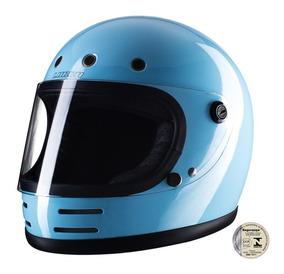 Capacete Lucca Customs Magno V2 Glossy Blue - Frete Gratis