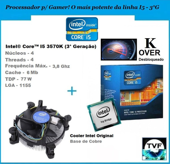 Processador Intel I5 3570k Over + Cooler Original