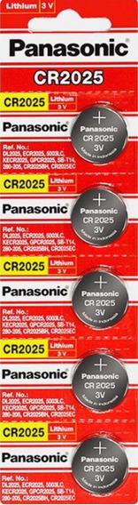 10 Bateria Panasonic Cr2025 / 2032 2 Cartelas Com 5 Unidades