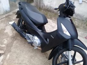 Honda Biz 125cc 2017 Ploteada Simil Carbono 3m 12km Alarma