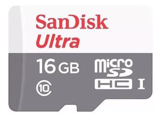 Memoria Micro Sd 16gb Sandisk Ultra Clase 10 Original