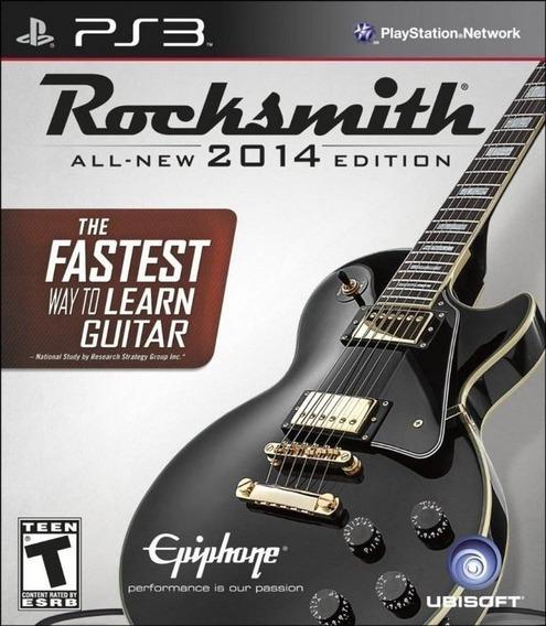 Rock Bgame Play3 - Rocksmith 2014 - Semi-novo Jogo Ps3