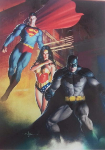 Poster Dc Jl Batman Superman Wonder Woman 30 X 40 Cm.