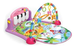 Gimnasio Alfombra Piano Didactico Para Bebes Con Sonajeros