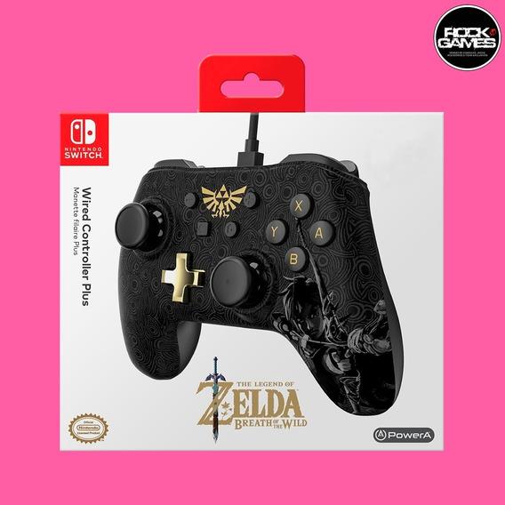 Controle Pro Com Fio Nintendo Switch - Edição Zelda - Preto