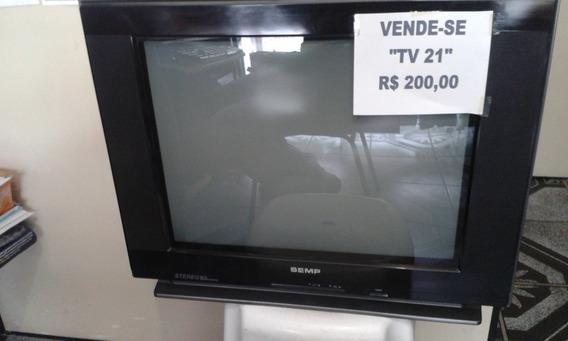 Tv Tubo 21 Polegadas + Conversor Didital Aquario