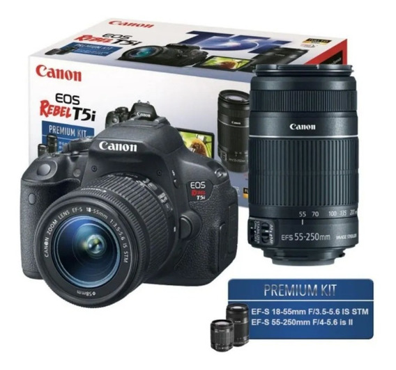 Câmera Canon Dslr Eos Rebel T5i Kit Lente 18-55mm