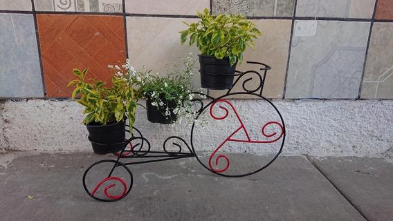Maceteros De Herreria Para 3 Macetas, L70cm, An32cm, Al40cm