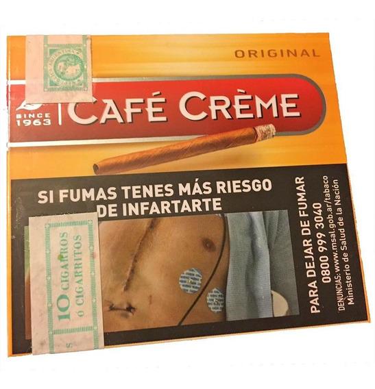 Café Crème Cigarros Pack 100 Unidades Sabor Original - Chapa