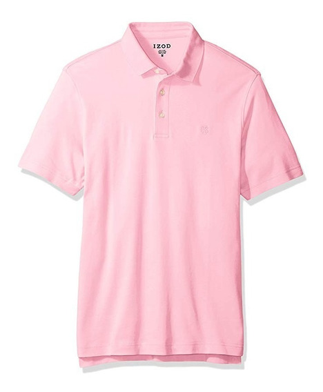 Izod Camisa Tipo Polo Caballero Rosa Xl