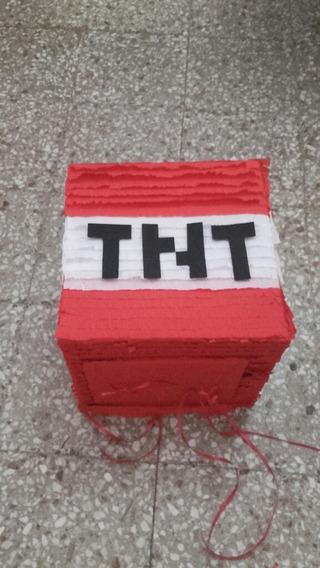 Piñata T.n.t. Minecraft Artesanal Dinamita Tnt
