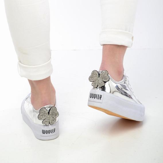 Zapatilla Plataforma Mujer Dama Diseño Sneaker