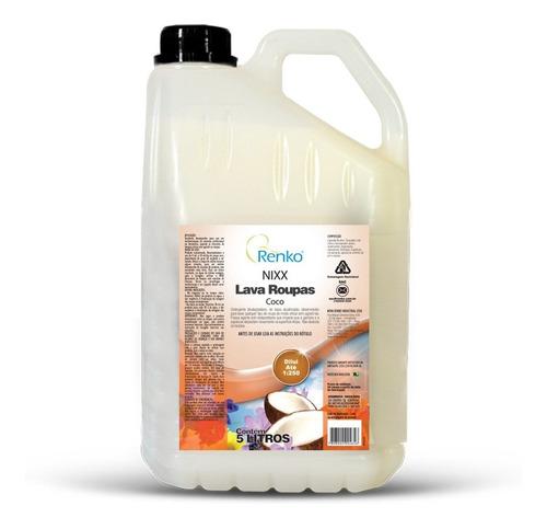 Lava Roupas Nixx Coco 5l Renko - Biodegradável Sem Residuos