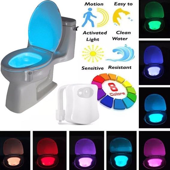 Sensor Luz Led 8 Cores Vaso Sanitário Privada Lightbowl
