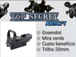 Red Sight Dot Green Airsoft Trilho De 20mm Toy De Mostruário
