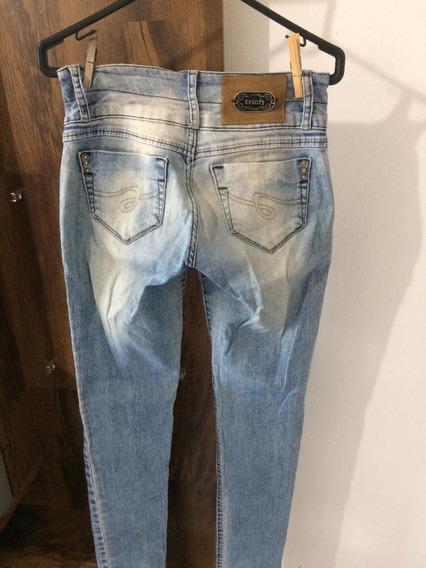 Calça Jeans Feminina Skinny C/ Lycra Tamanho 36 Frete Grátis