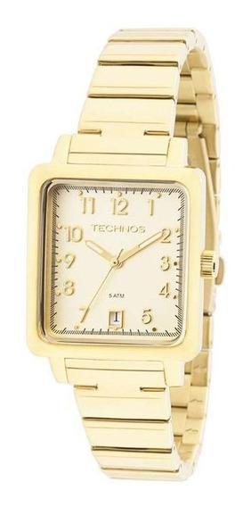 Relógio Feminino Technos Dourado 2115kpj/4d