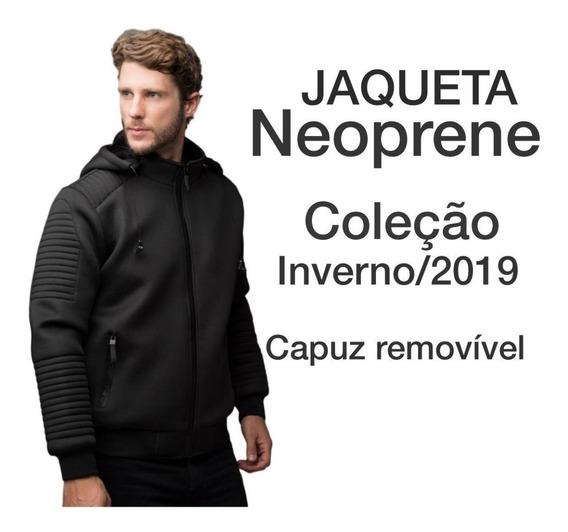 Jaqueta Masculina Neoprene Inverno 2019 Capuz Removivel