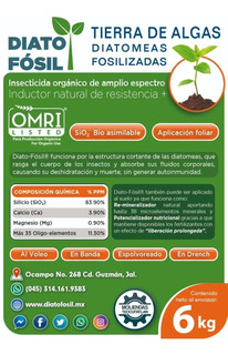 Tierra De Diatomeas - Insecticida Foliar - O M R I - 6 Kg -